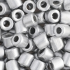 Tube Beads 5.7mm with 2mm Hole Metallic Silver Dyed